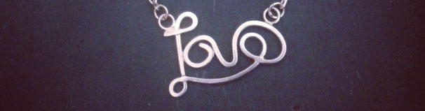 Emma Hedley Handmade Silver Love Word Necklace