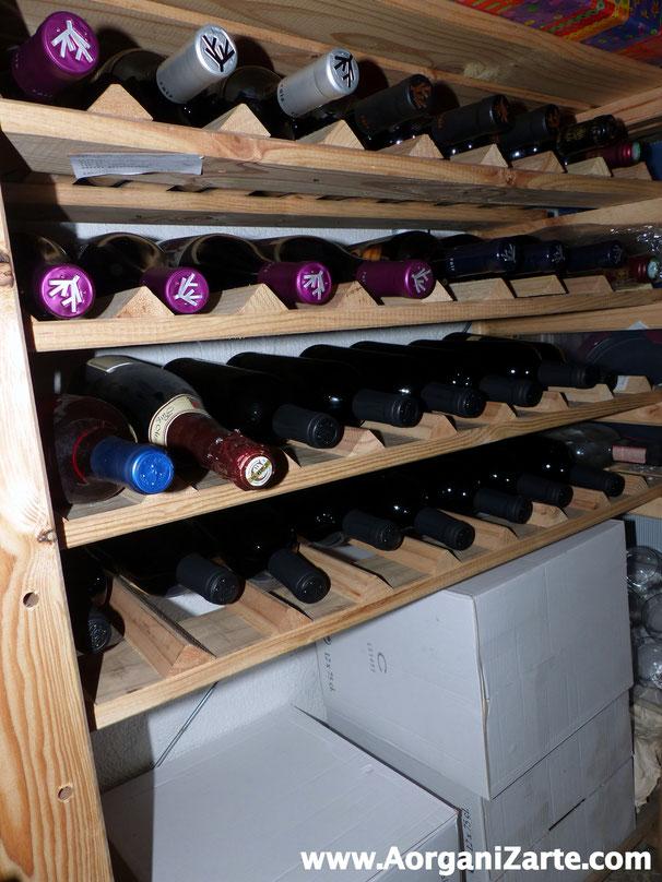 Puedes guardar todas las botellas de vino en el trastero - AorganiZarte