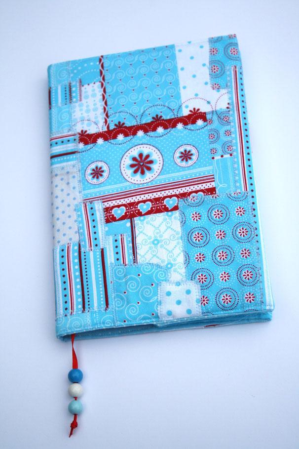 Patchwork Notizbuch türkis meeresblau ocean