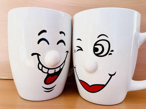 Kaffeebecher, Kaffeetassen, Smiley