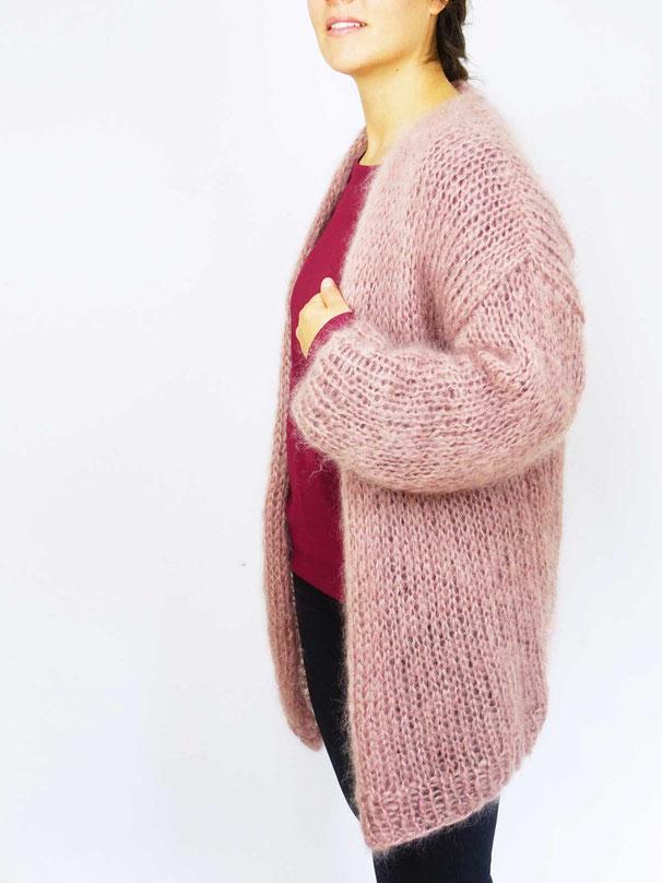 superleichte Strickjacke stricken für Anfänger mit Strickset von Wooltwist