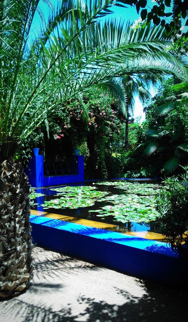 jardin Majorelle yves saint laurent marrakesch
