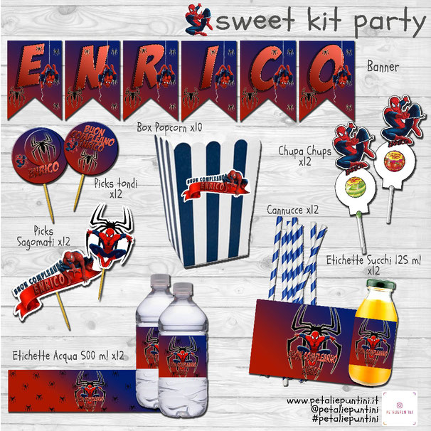 Kit party Spiderman