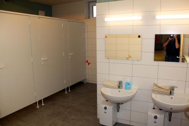 die sanitären Anlagen neu sind wieder benützbar