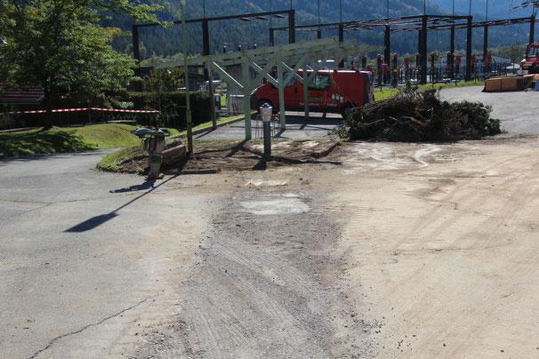 im Bereich des alten Carports wurde ein Hydrant installiert
