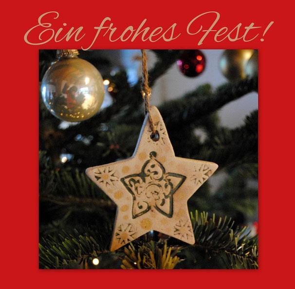 Weihnachtskeramik von Landhausidyll