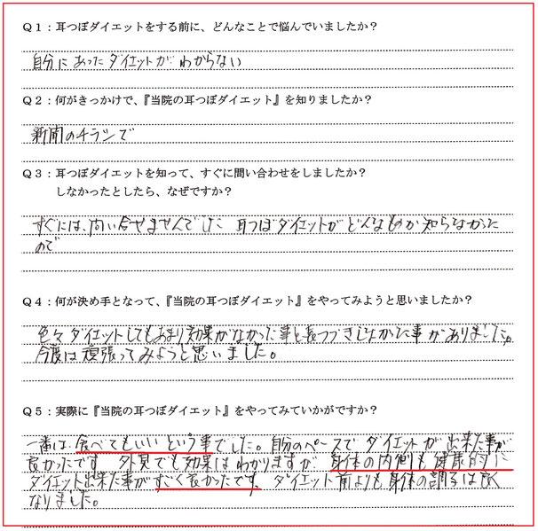 新潟市秋葉区 60代 女性 ダイエット体験談