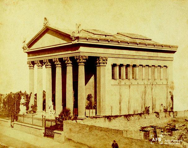 Римский храм в районе Эшампле