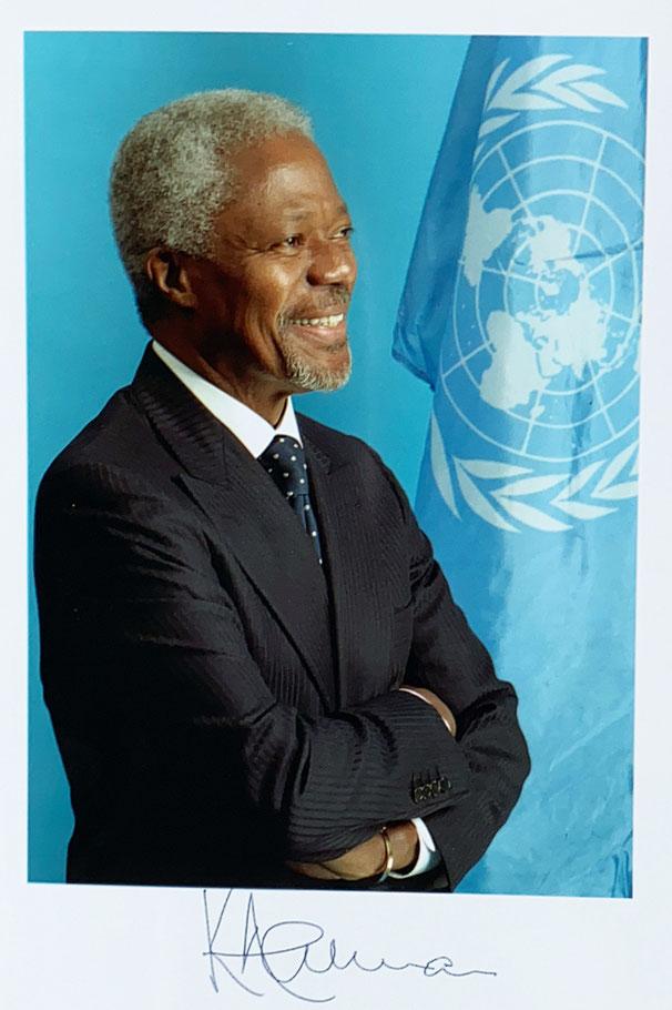 Autograph Kofi Annan Autogramm