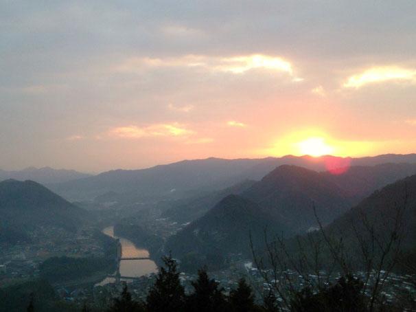 2014年元旦 藤山山頂からの初日の出