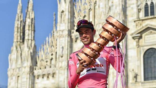 Il vincitore del Giro 2100, Tom Dumoulin, 26 anni. Bettini