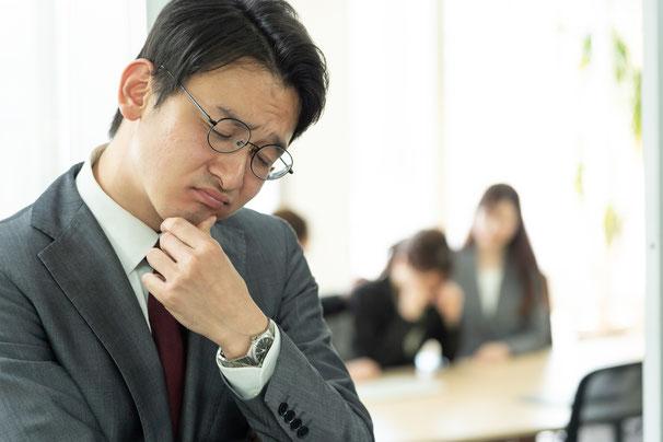 仕事で考えていない、仕事ができない人のイメージ1