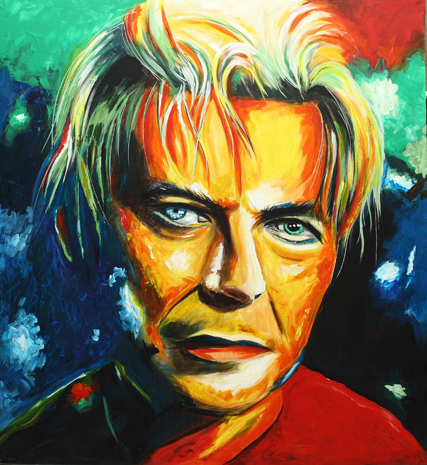 David Bowie am 12.01.2016 gemalt! Art, Kunst, Acrylic, Original