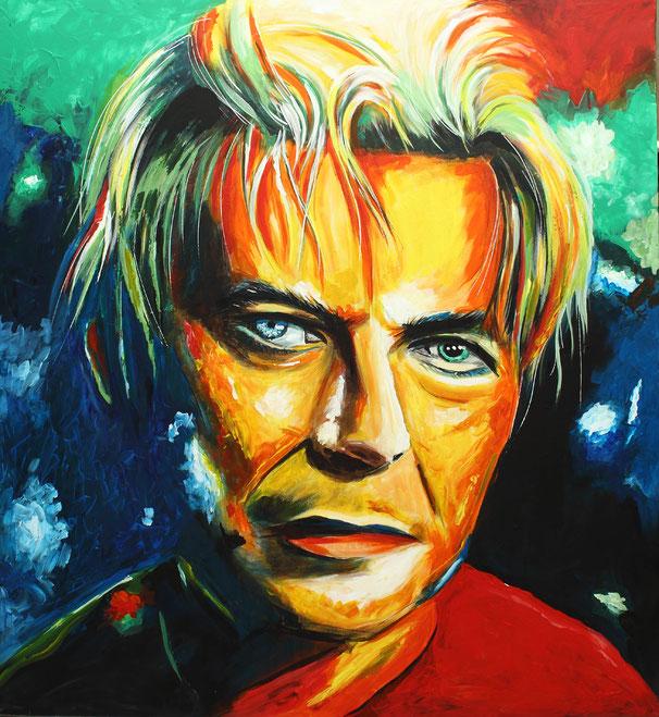 David Bowie am 12.01.2016 gemalt! Art, Kunst, Acrylic, Original