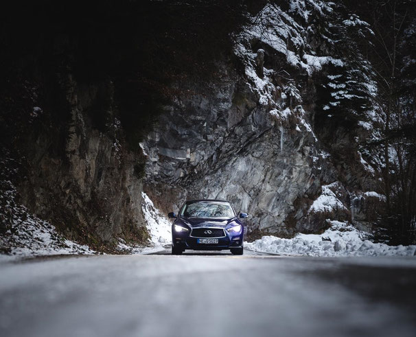 INFINITI WINTER TEST DRIVES Q30S & Q50S - Switzerland - January 2019