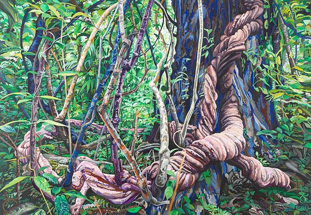 O. T. (DSCHUNGEL 4) 2014 | Acryl auf Nessel | 200 × 140 cm