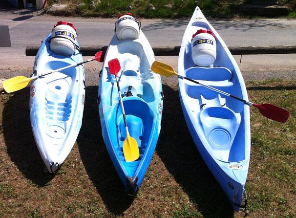 différence entre canoe et kayak chez cap 07