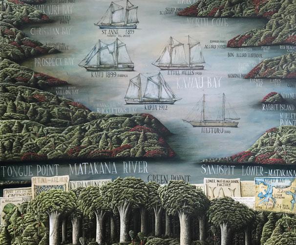 'Kawau Bay' 120 x 100 cm, Oil on canvas, 2021. SOLD