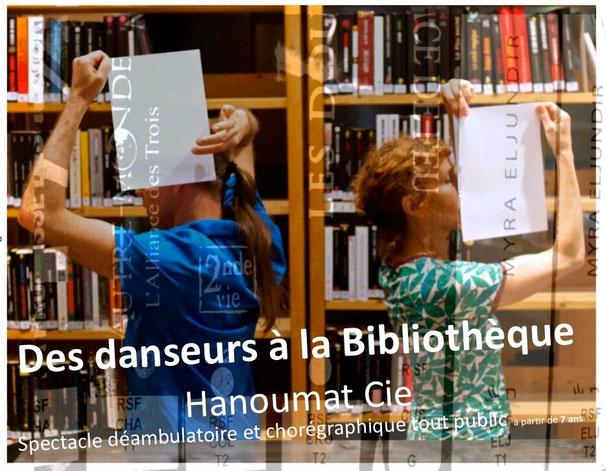 Des danseurs à la bibliothèque Cie Hanoumat