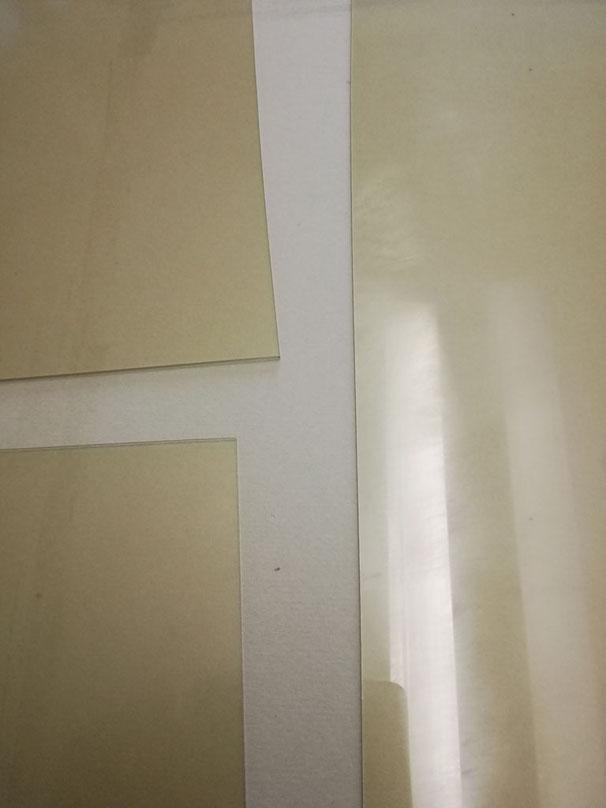 Bilderglas ersetzen - Bilderglas mit feiner Nikotin-Beschichtung