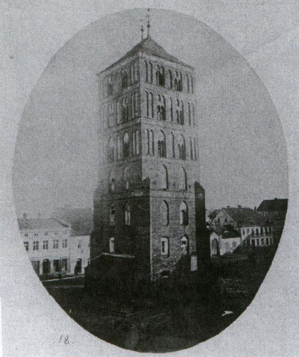 Wieża ratuszowa na inowrocławskim placu rynkowym - rok 1869