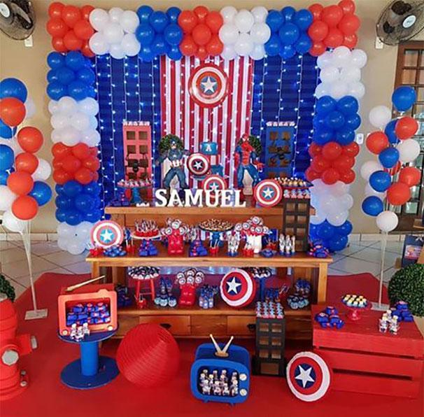 fiesta tematica capitan america