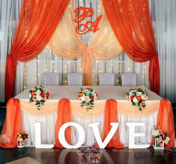 arreglo de mesa principal para boda