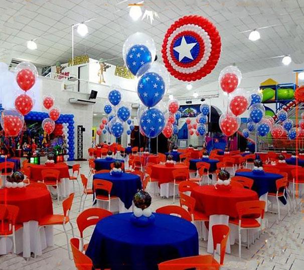 decoracion fiesta capitan america