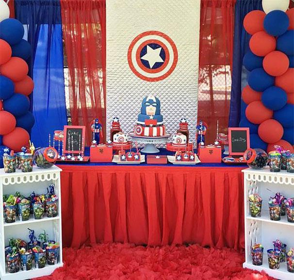 fiesta infantil capitan america