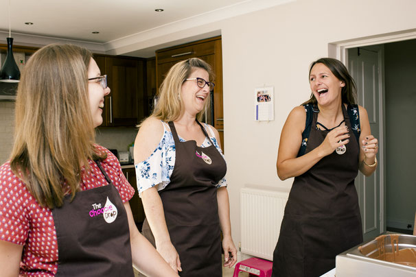 Having lots of fun at a chocolate party, ideal for a hen do, hen party, baby shower, special birthday