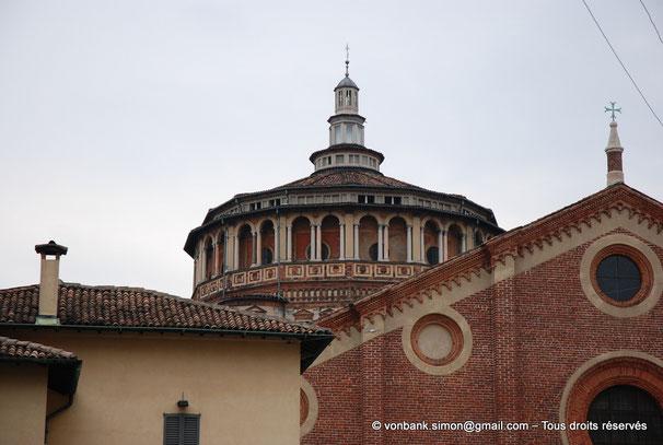 Milan - Santa Maria delle Grazie : Vue extérieure de la coupole