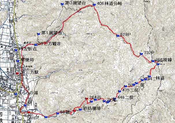 今古川 沢登りルート