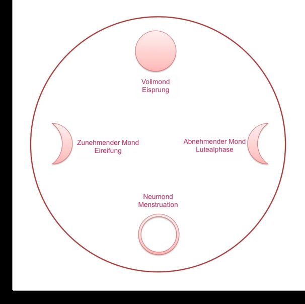 Mondphasen und Zyklusphasen
