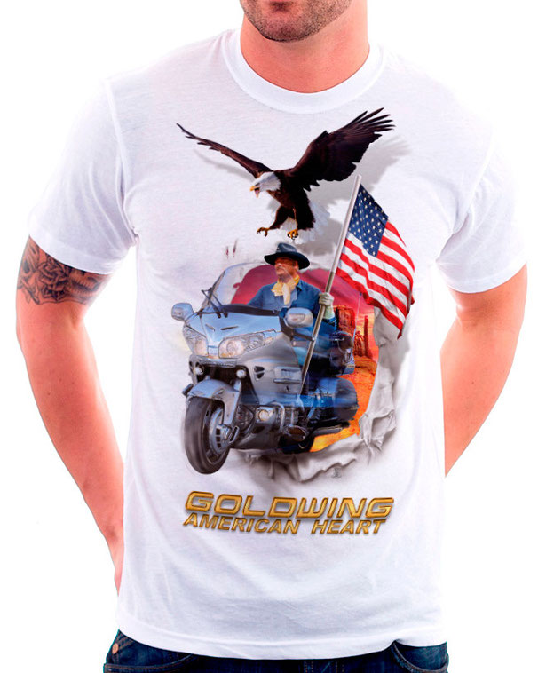 """t-shirt """"American Heart"""" by Gold Force One"""