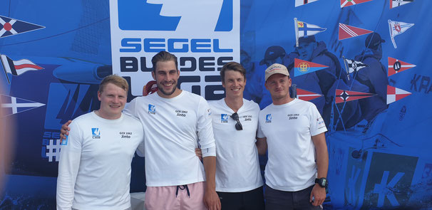 von links nach rechts: Mats Kampen, Justus Braats, Jens Marten (Steuermann), Hannes Marten