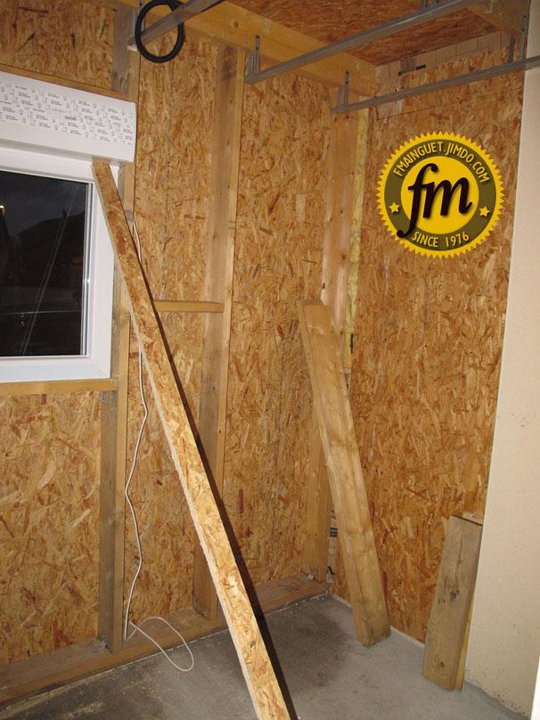 Extension maison ossature bois site de fr d ric mainguet for Osb bricoman