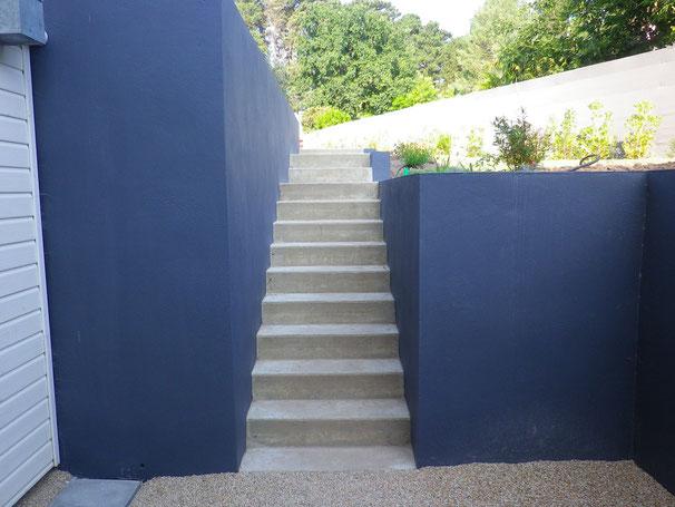 murs escalier et plantations