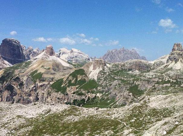 Wie im wilden Westen - die Felsmassive der Dolomiten