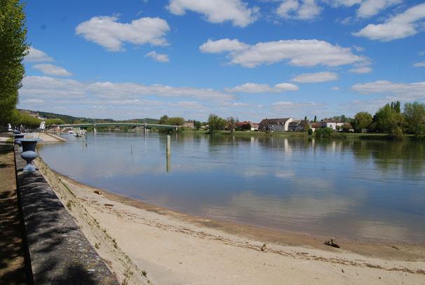 Randvolle Saône in Tournus