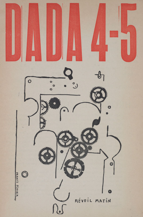 フランシス・ピカビア「Réveil Matin (Alarm Clock), Dada 4-5, Number 5, 15 May 1919」