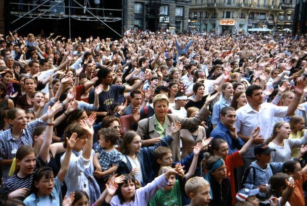 8000 FfJ-Teilnehmer. Foto: Jo Hoffmann