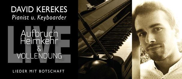 David ist live und im Studio Pianist u. Keyboarder.