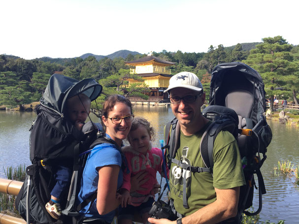 Family Friendly Walks in Kyoto, Japan - The Golden Pavilion