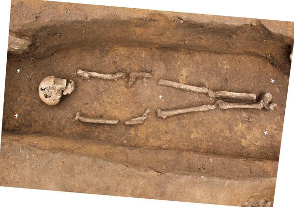 Photogrammetrie Bestattung Skelett Archäologie