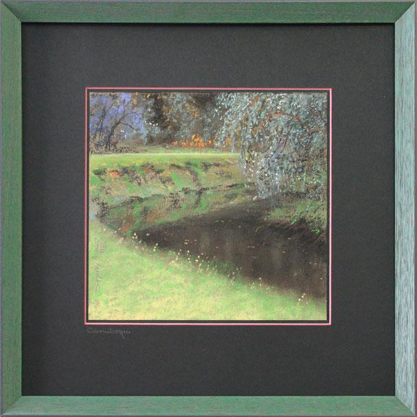 """Wurmbogen"" (Pastell), 40 cm x 40 cm"