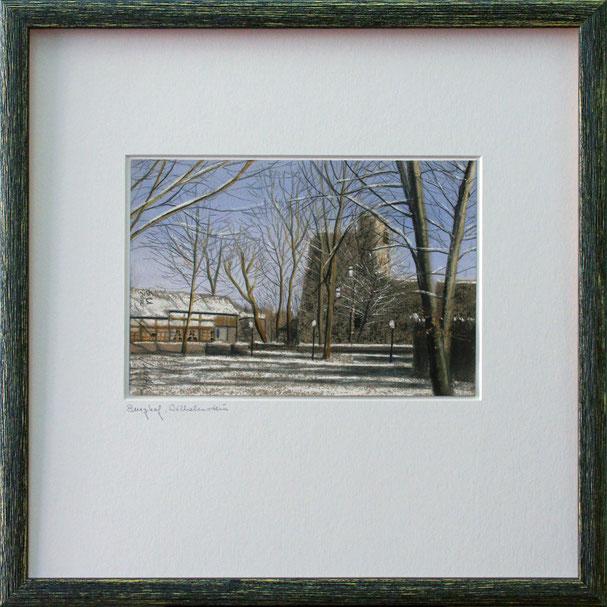 """""""Burg Wilhelmstein"""" (Pastell), 40 cm x 40 cm"""