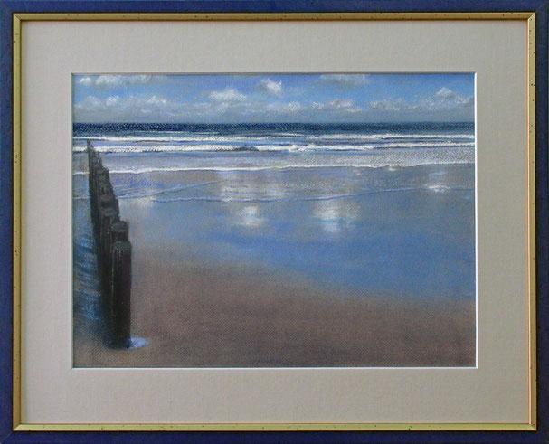 """Meer - blau"" (Pastell), 50 cm x 40 cm"