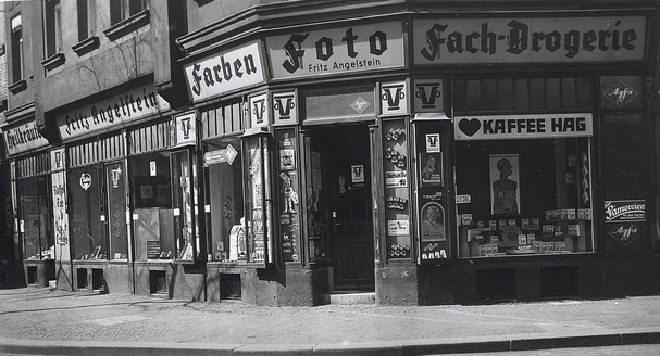 Foto-Drogerie 1950 Fotograf Fritz Angelstein Leipzig