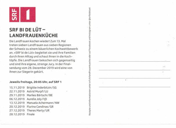 Landfrauenküche 2019_Marlies-Bärtschi zu sehen am 29. November 2019