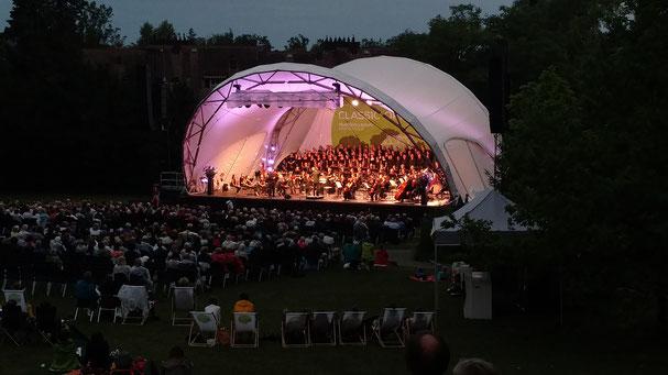Klassik Open Air, Open Air Bühne, Bühne, Konzertmuschel, Open Air Konzert, Konzertbühne